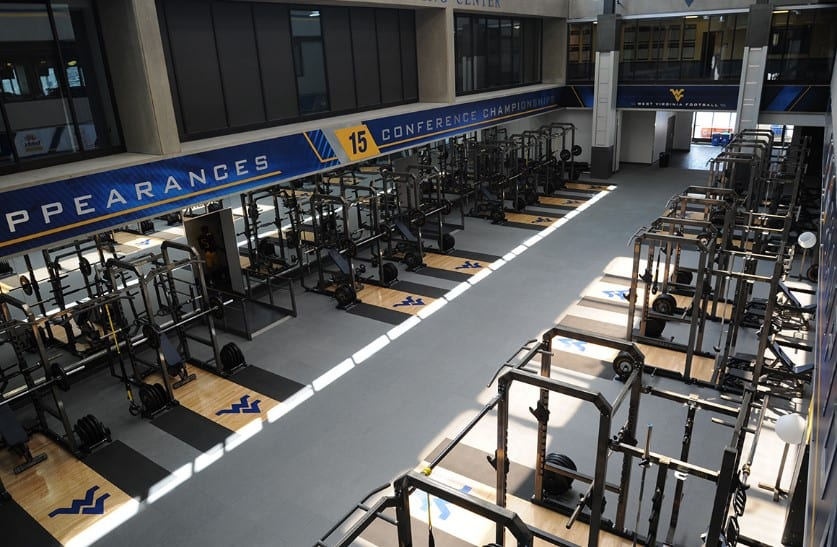 WVU Weight Room Expansion Photo