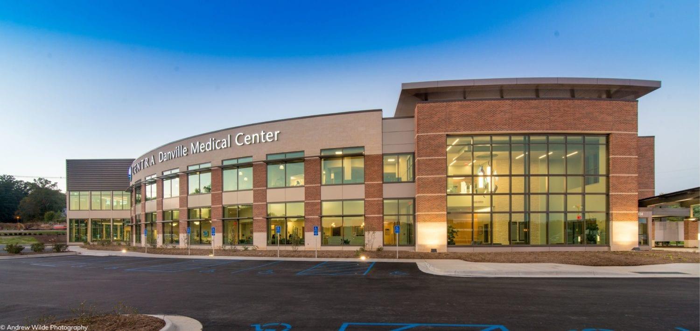 Front corner view of building