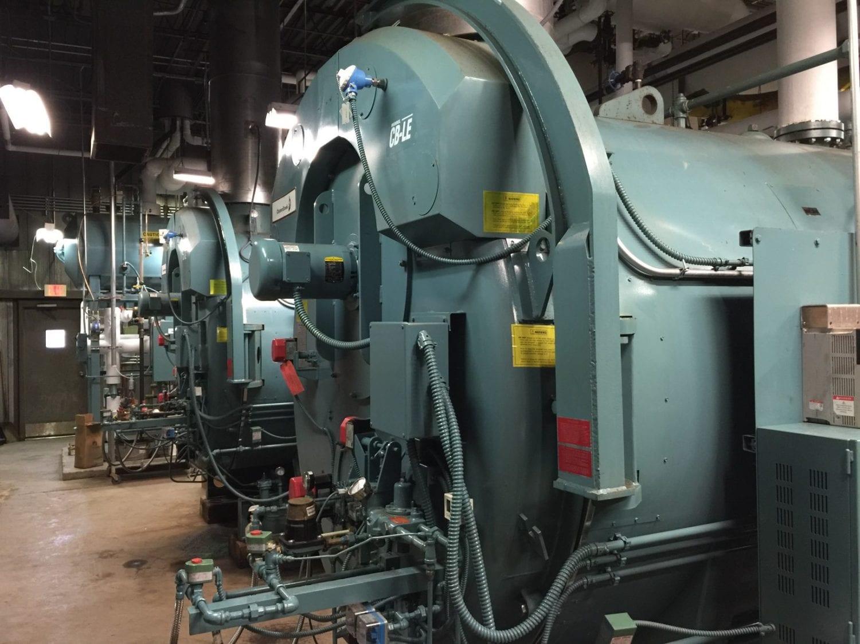 Lage indoor boiler