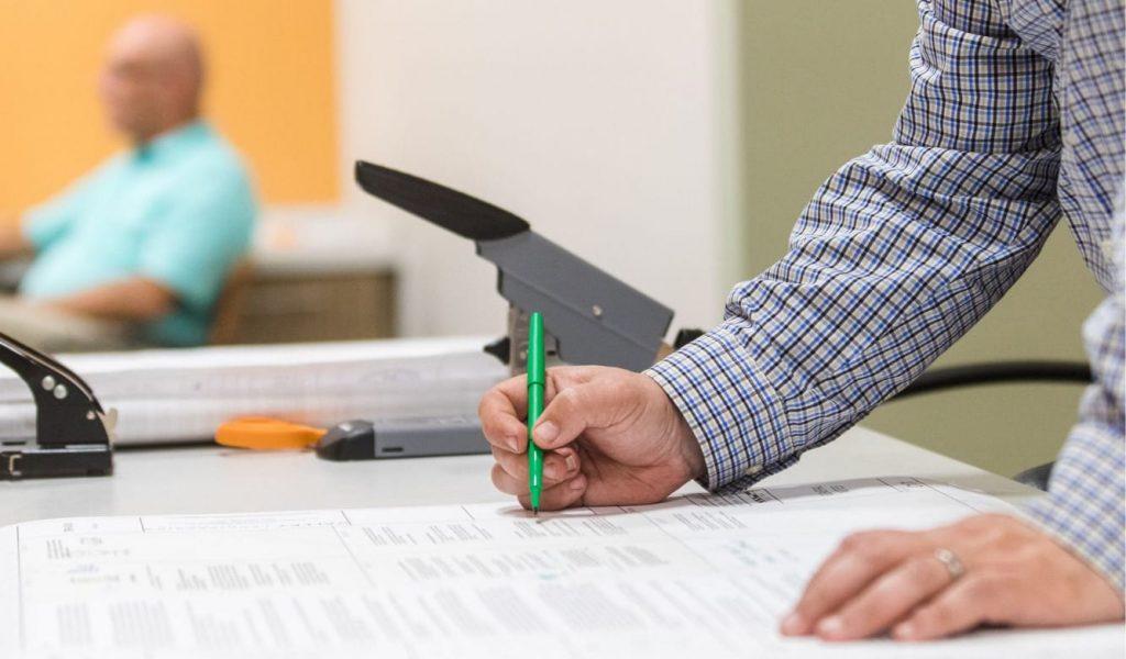 Man drafting